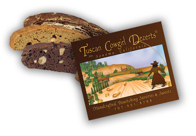 Tuscan Cowgirl Dezerts - Package Label Sample Pic