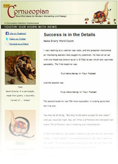 Sample Cornucopian Newsletter