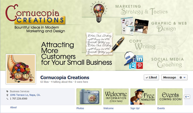 Cornucopia Creations Facebook Timeline Cover Photo
