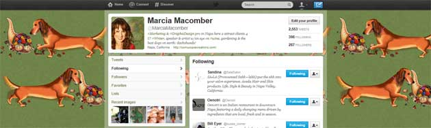 Twitter Home Page - MMacomber