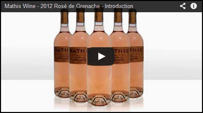 Mathis Wine - Rosé de Grenache Video