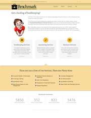 Benchmark Bookkeeping Website Design