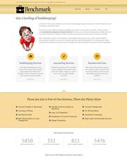 Benchmark Bookkeeping Website Design