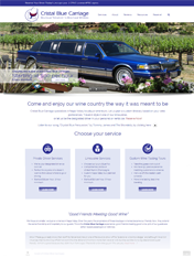 Cristal Blue Carriage Website Design