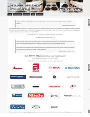 Petaluma Appliance Website Design