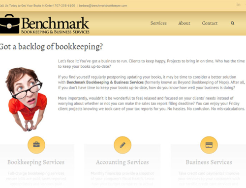 Benchmark Bookkeeping – Website Design