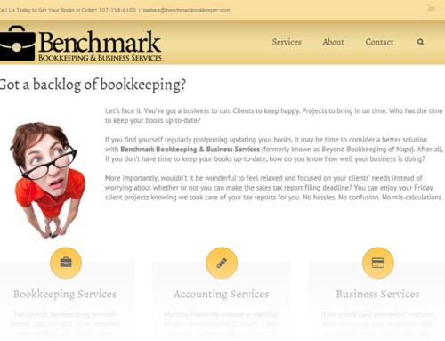Benchmark Bookkeeping – Website Design