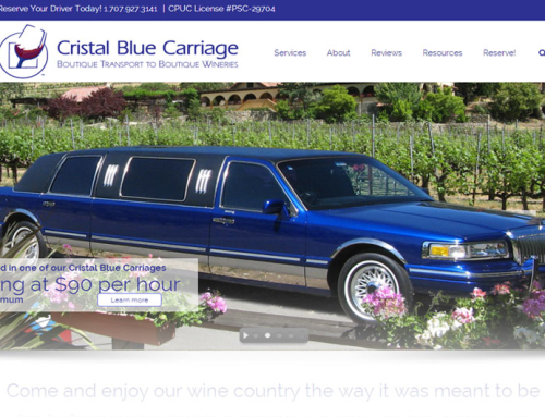 Cristal Blue Carriage – Website Design