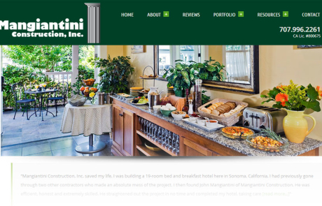 Mangiantini Construction - home page