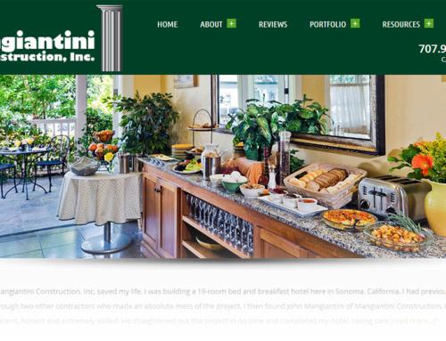 Mangiantini Construction – Website Design
