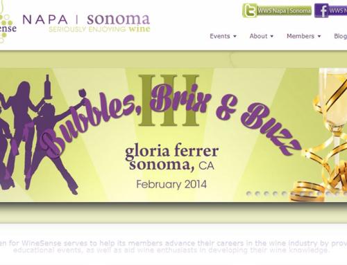 Women for WineSense (Napa|Sonoma) – Website Design