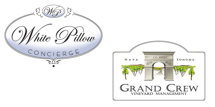 Logo Design - White Pillow Concierge and Grand Crew