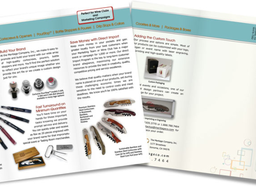 Meritage Company – Wine Accessories Trifold Brochure
