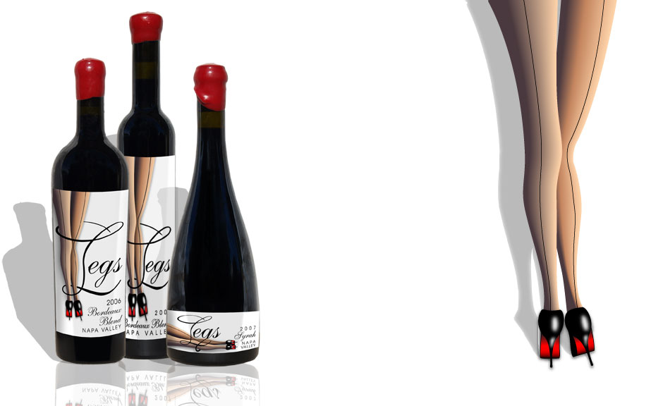 Wine Label Packaging Design - Legs Wine