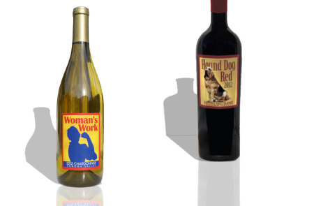 Wine Packaging - Woman's Work Chardonnay and Hound Dog Red