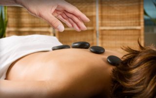 Stone Massage with Hand