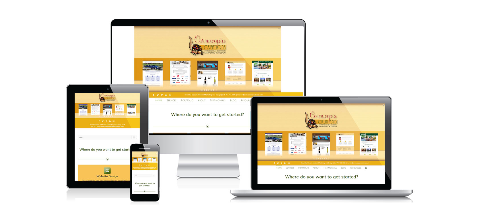 Website Design - Responsive - Desktop, Mobile, Tablet Design