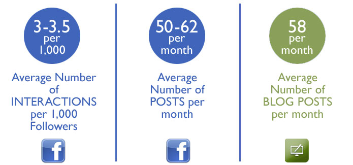Facebook and blogging statistics